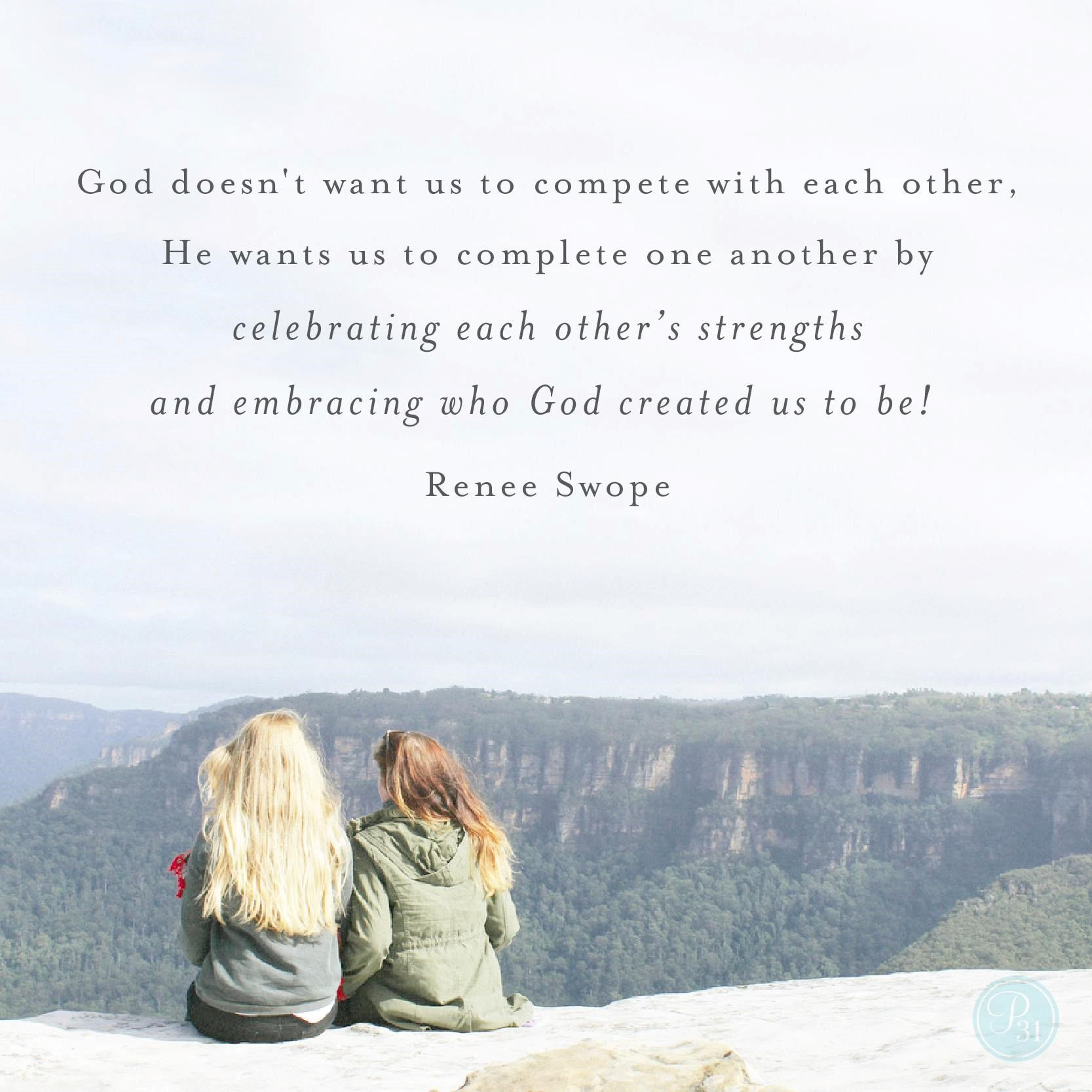 Renee Swope Quote on Completing and Competing